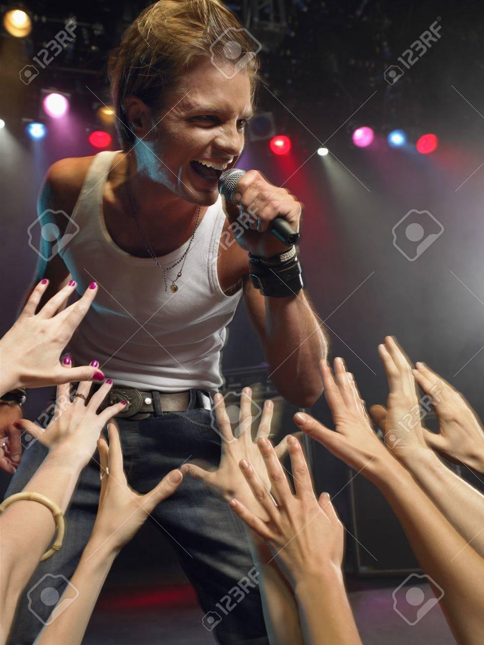 Young Man Singing at Concert Stock Photo - 18886276
