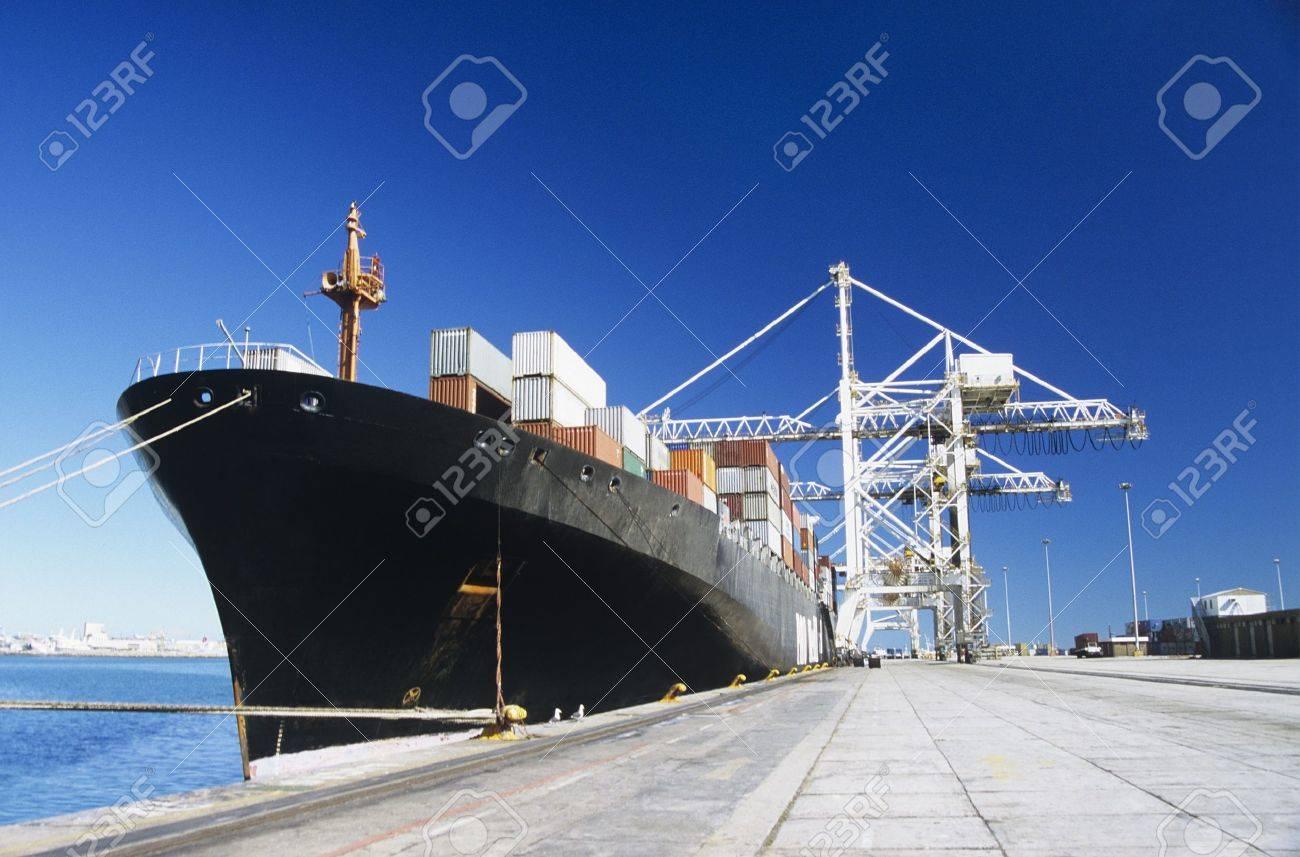 Cargo Ship at Wharf Stock Photo - 19546439