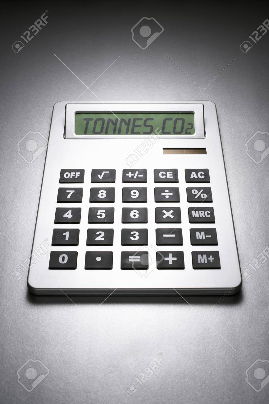 Calculator informing about carbon dioxide concentration Stock Photo - 19078813