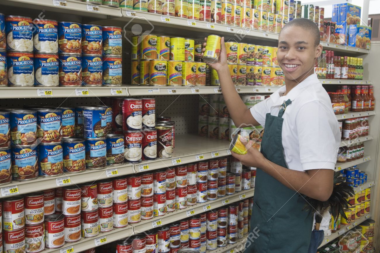 Teenage Supermarket Employee Stock Photo, Picture And Royalty Free ...