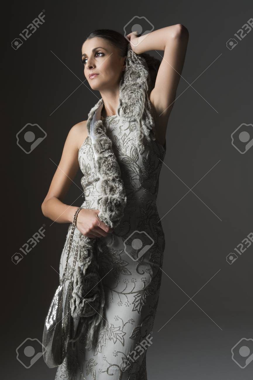 Evening Dress Over the Scarf