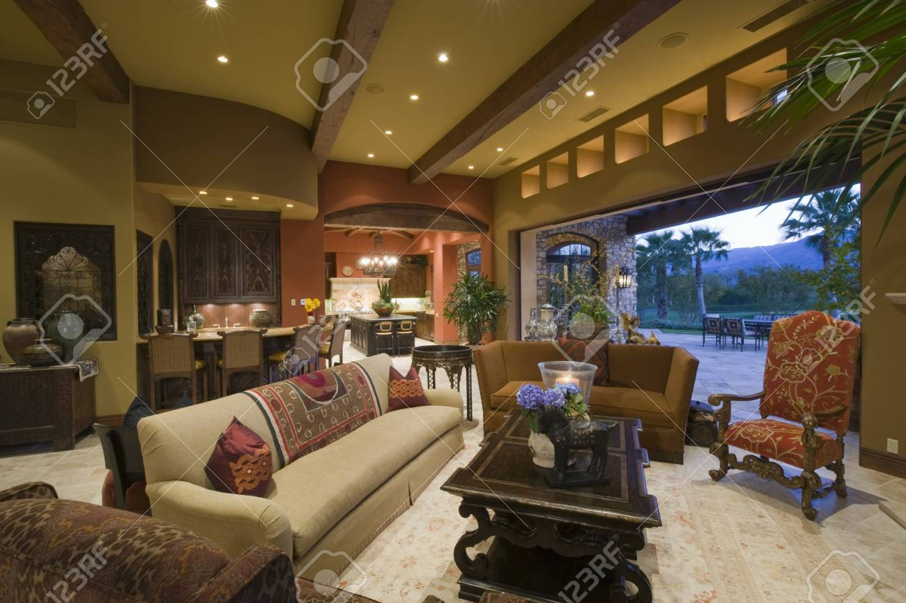 Seating area of Palm Springs living area Stock Photo - 20740069