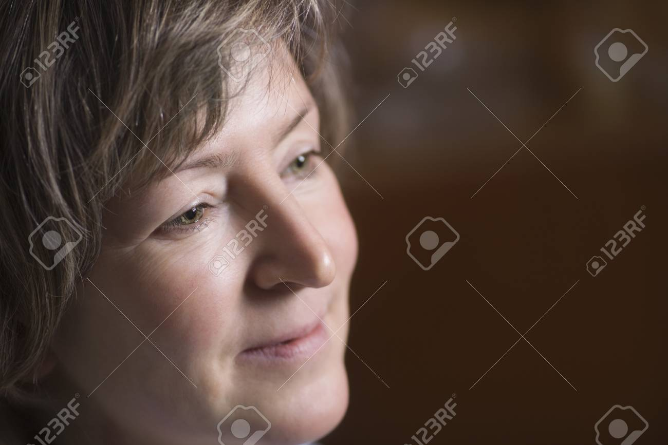Face of mature woman 40s adult Stock Photo - 20740833