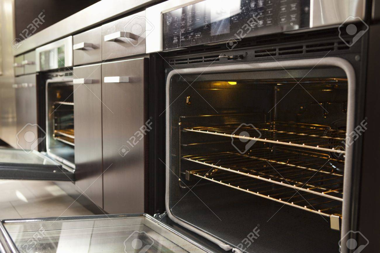 Open Oven In Industrial Kitchen Stock Photo, Picture And Royalty ...