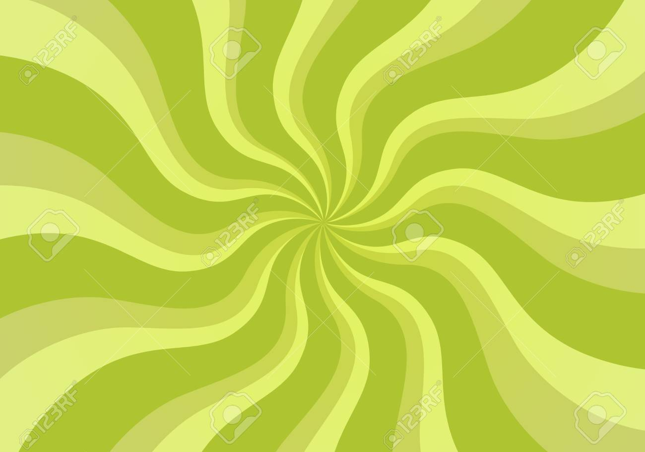 Abstract Background With Flat Green Whirl Vector Wallpaper Illustration