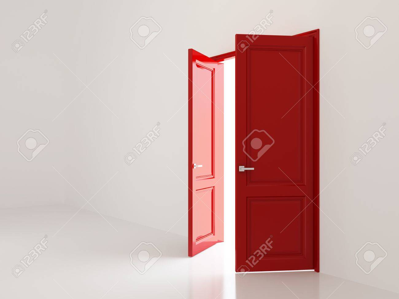 Interior and open doors Stock Photo - 12848054