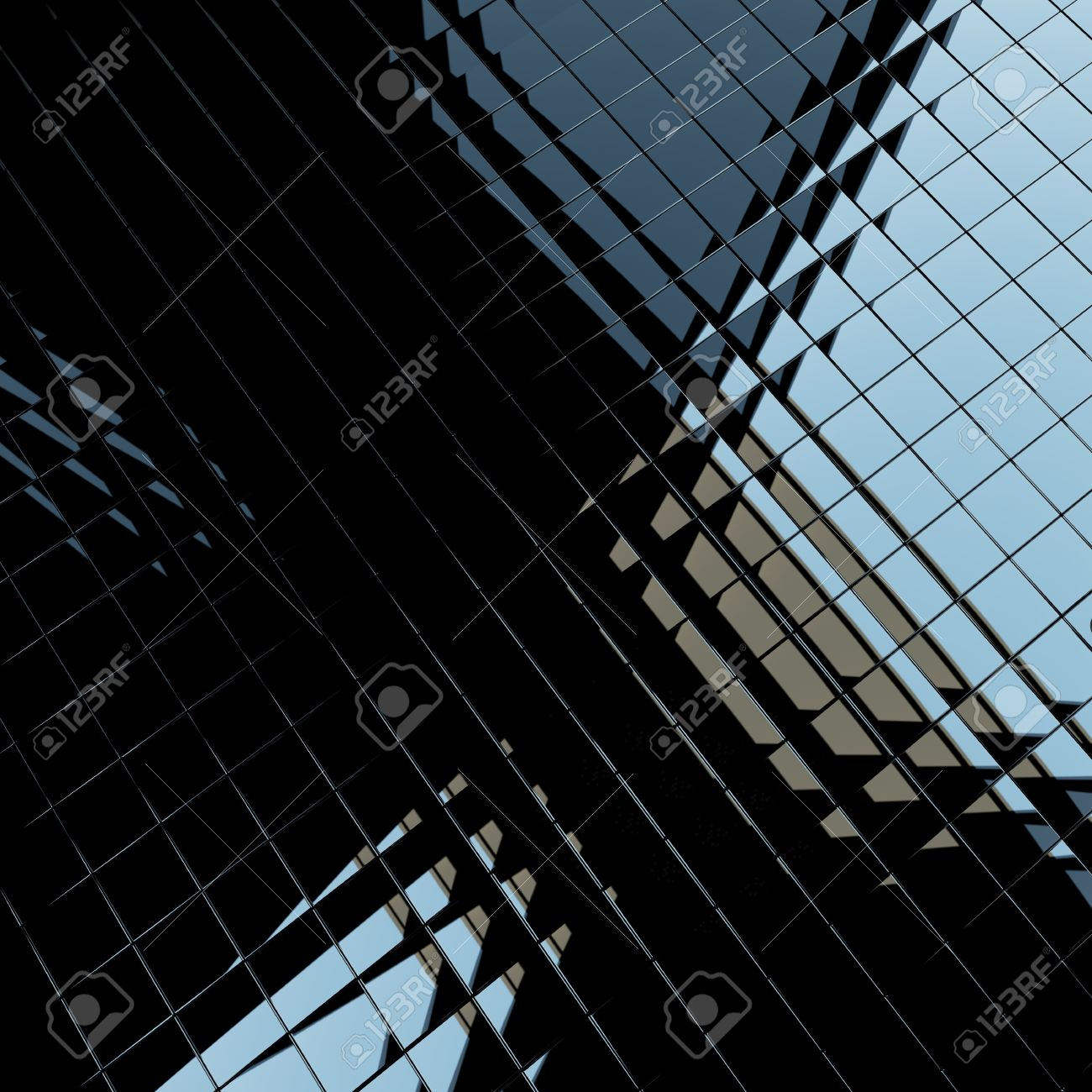 Background Made Of Black Flat Glossy Cubes With Strong Reflection ...