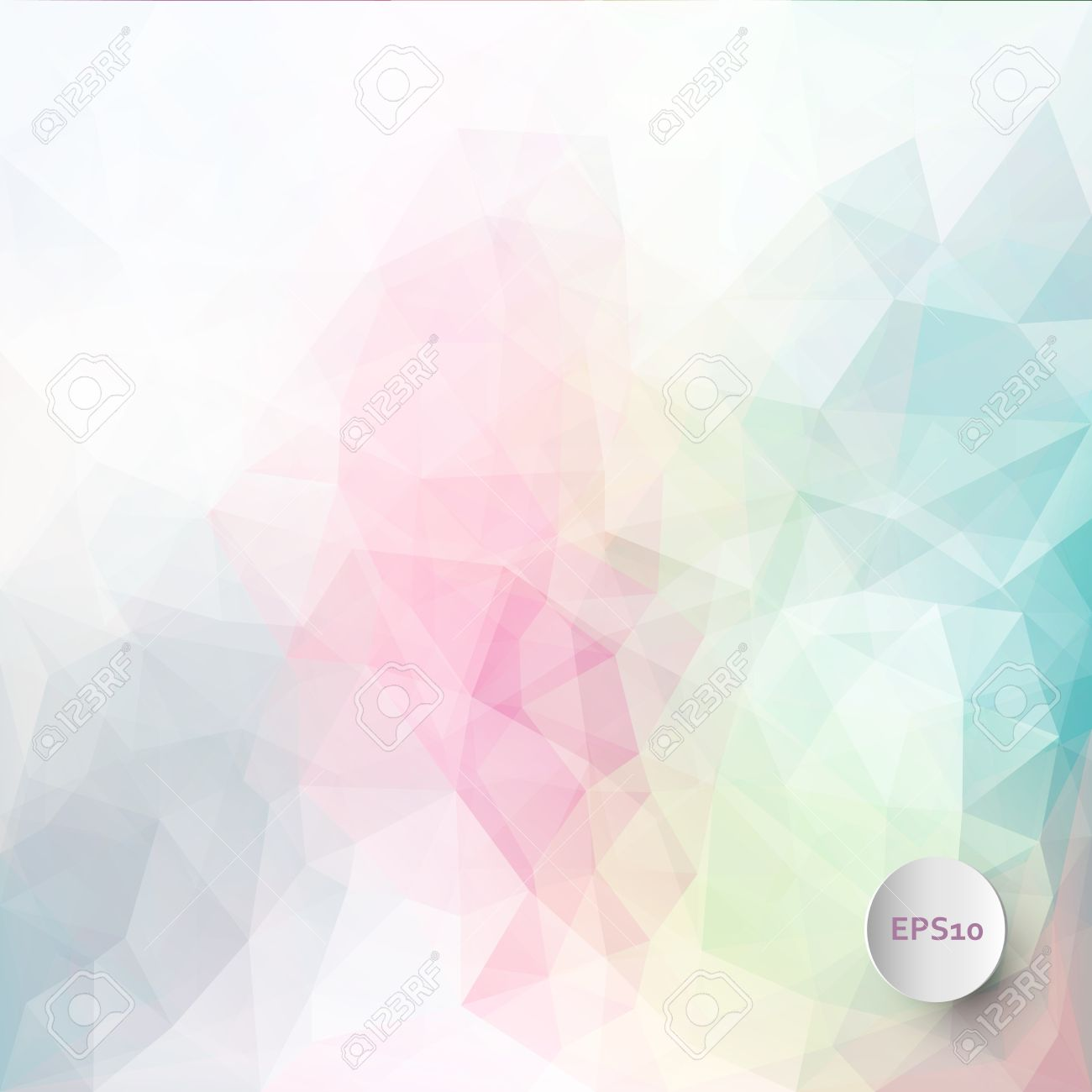 abstract vector triangle ice background in pastel colors royalty