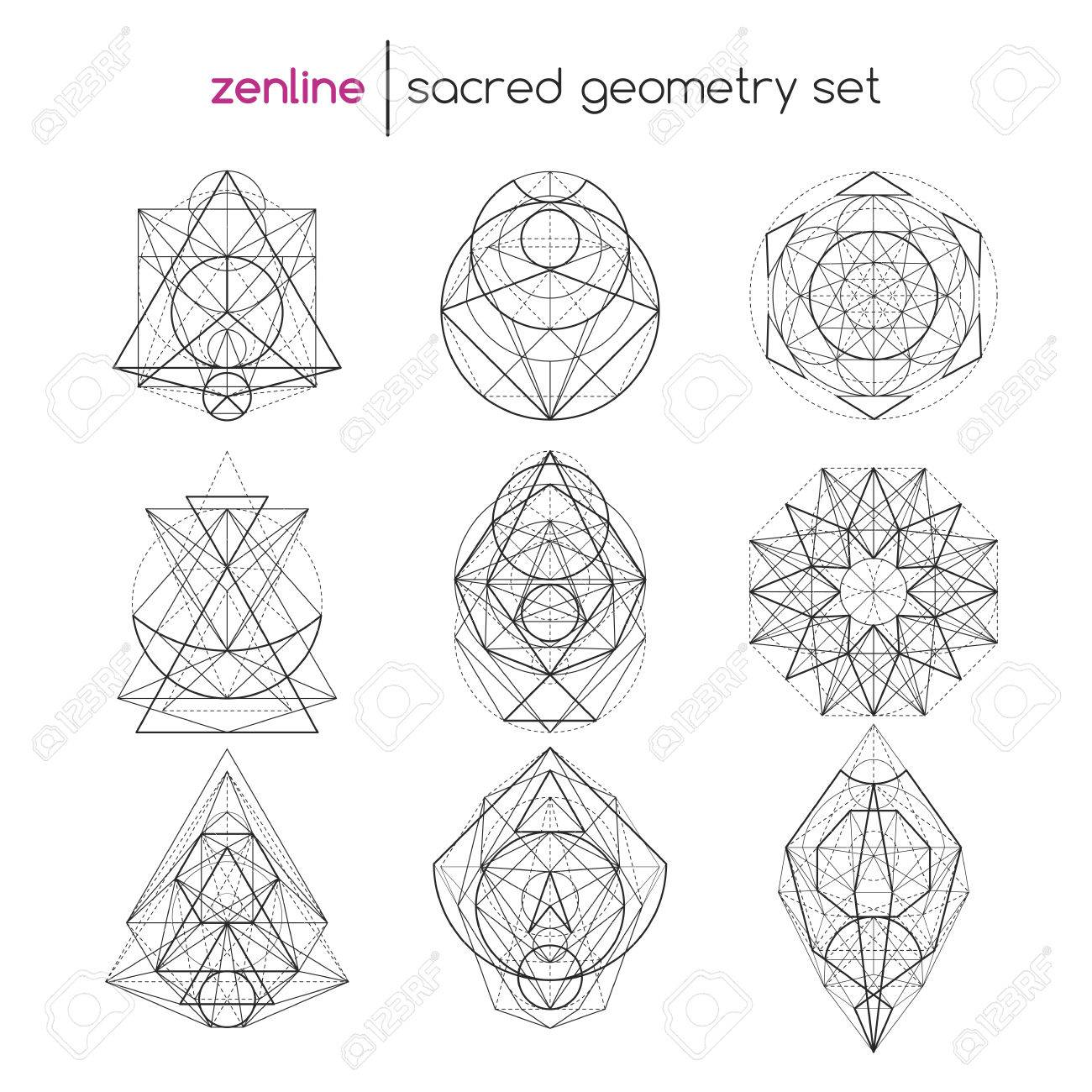 Abstract vector sacred geometrical figures spiritual geometry abstract vector sacred geometrical figures spiritual geometry symbols stock vector 62913940 buycottarizona