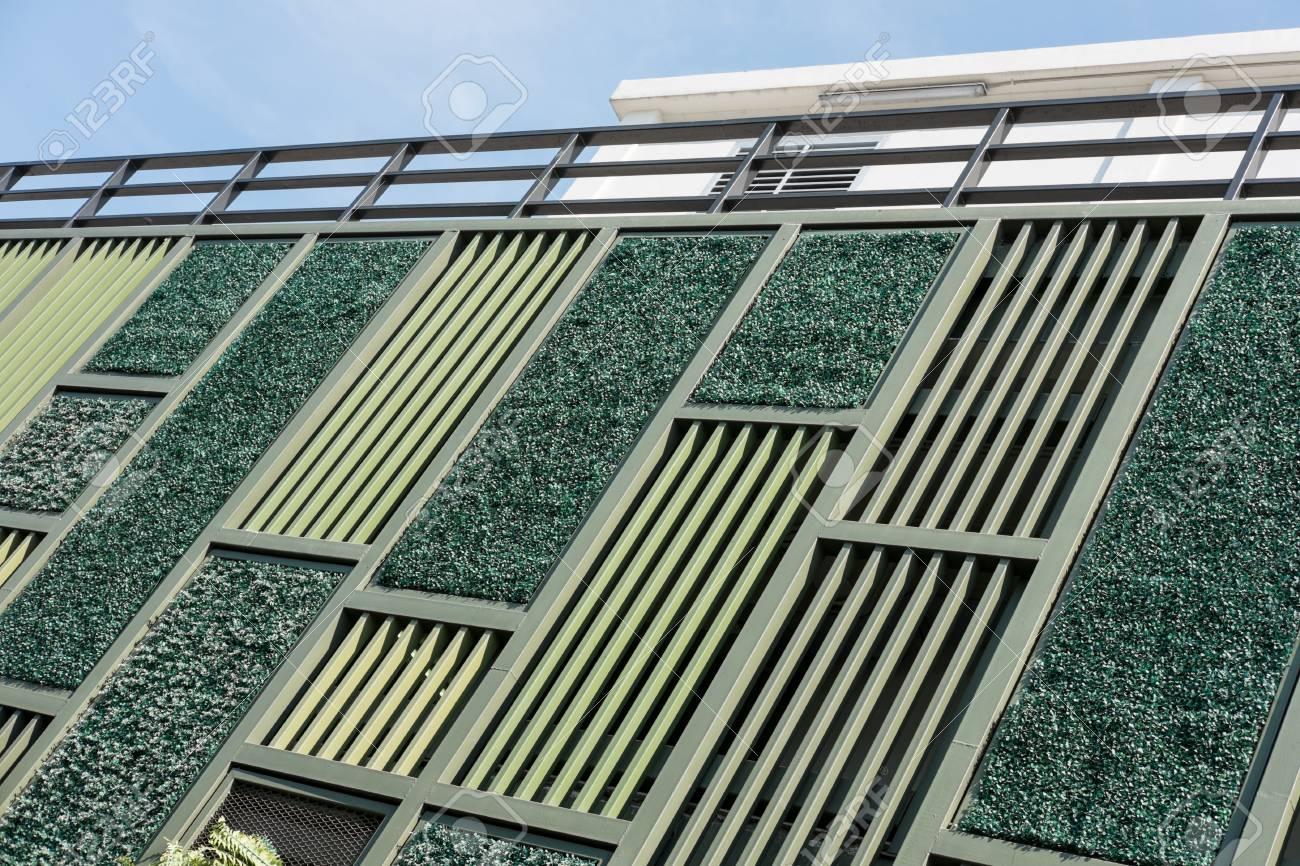 Green Facade Vertical Garden In Architecture Ecological Building