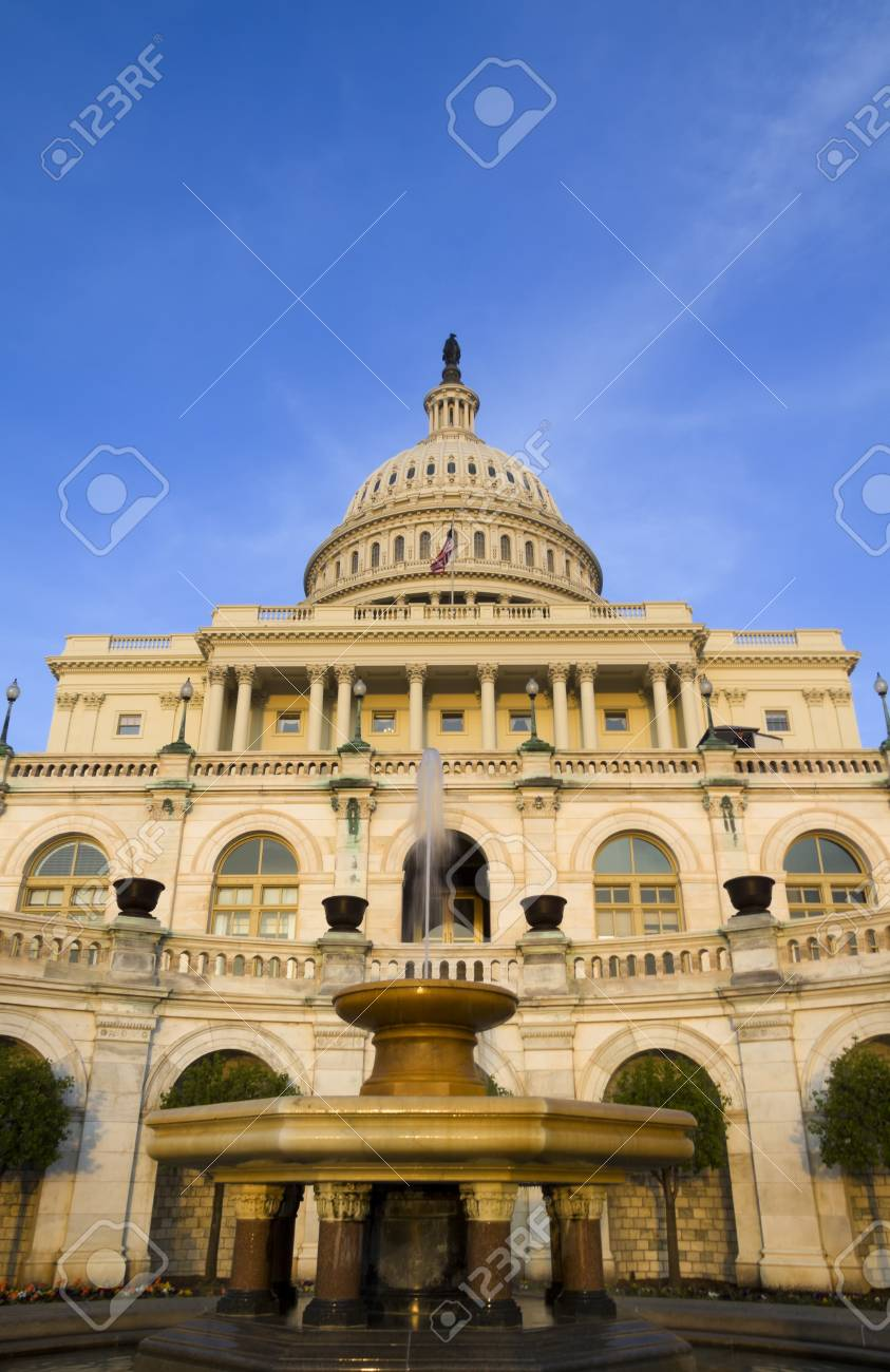The United States Capitol Building on the mall in Washington D C - 27884076