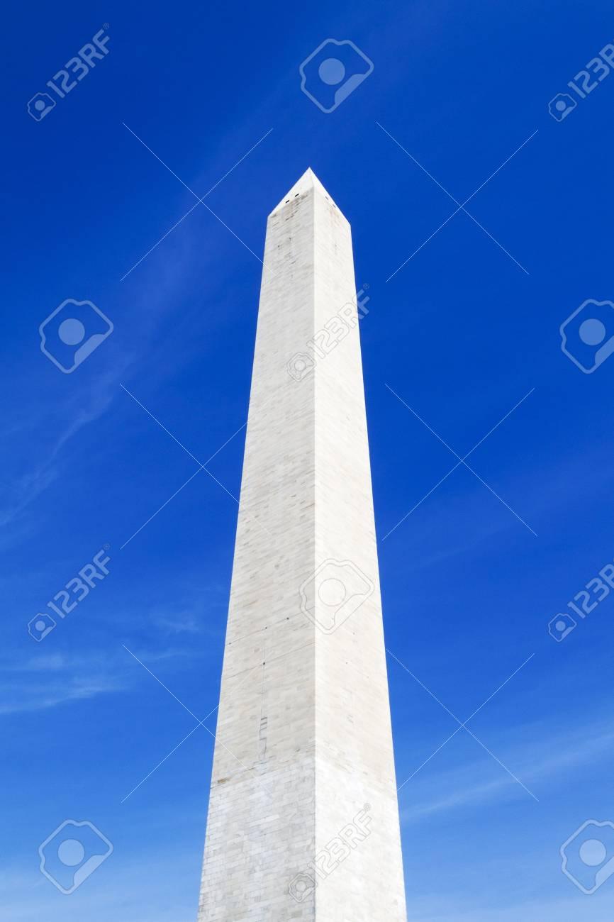 Washington Monument in Washington D.C. soaring into the blue sky - 43751492