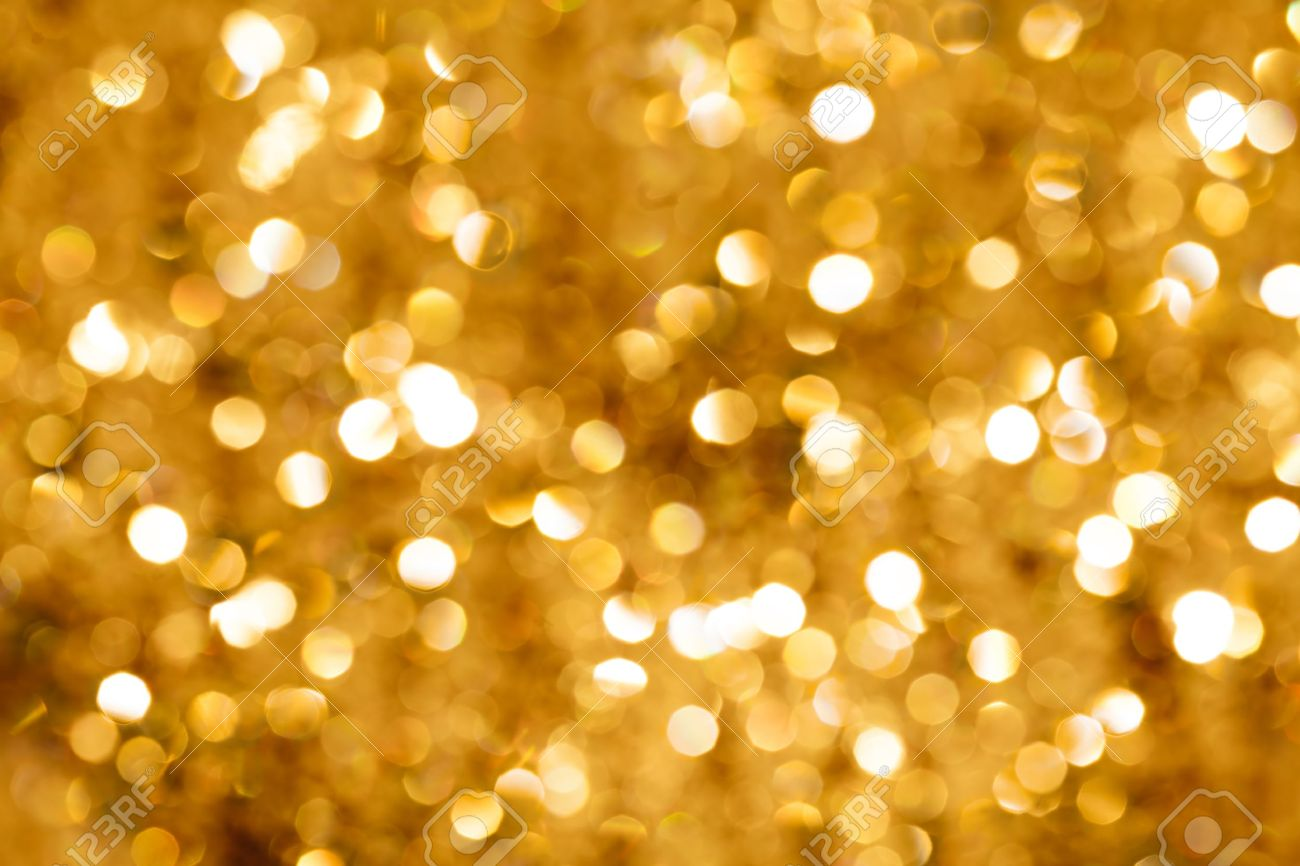 Gold Blurred Light. Useful As Christmas Background Or Greeting ...