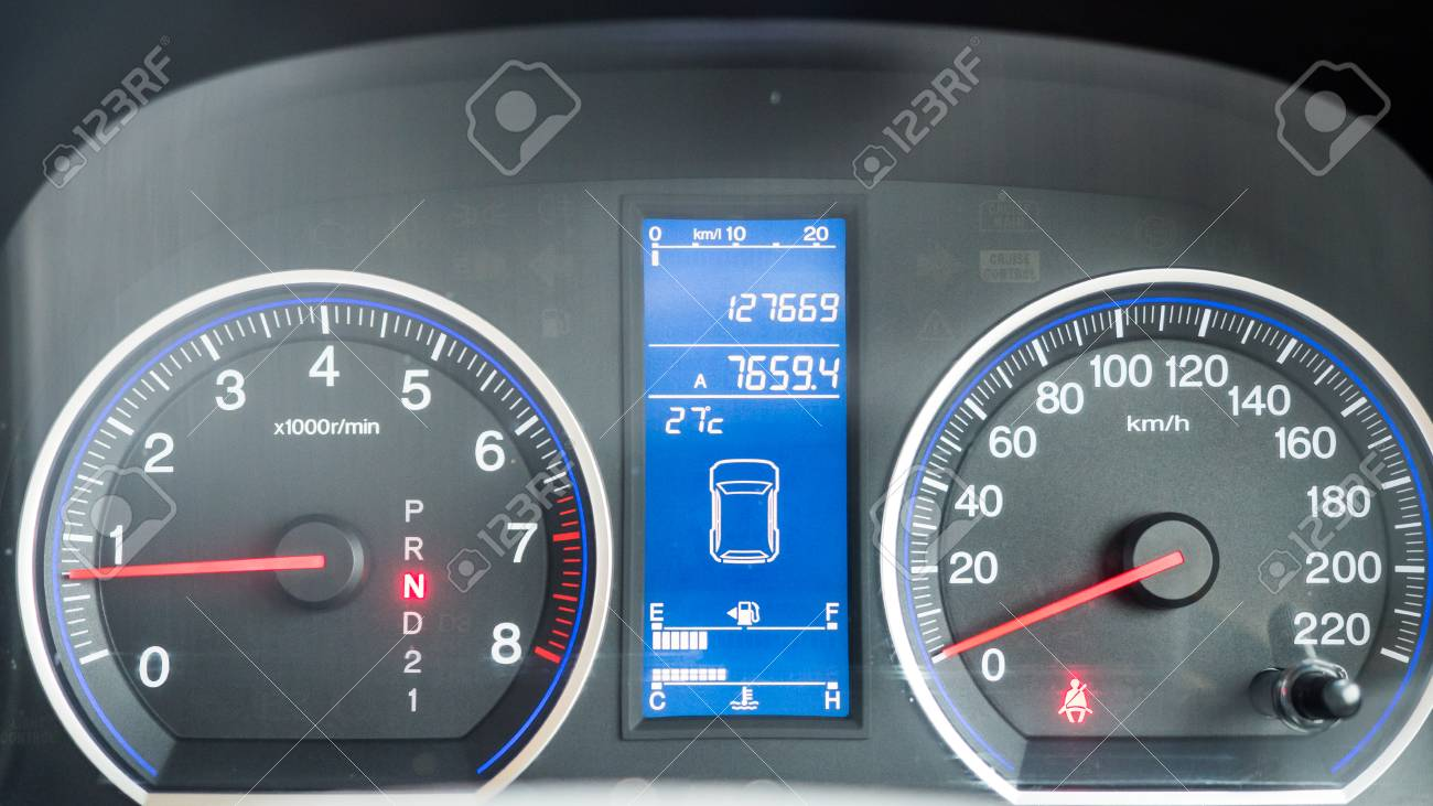 Dashboard Board Of Car At Night Dash Or Instrument Panel Is Control Stock Photo Picture And Royalty Free Image Image 108515627