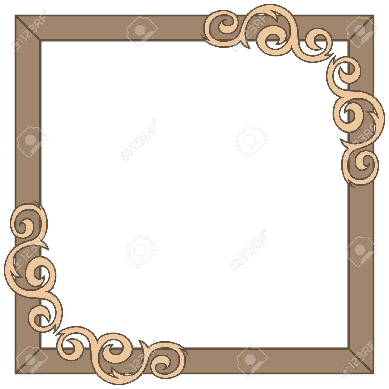 decorative ornate frame vector illustration royalty free cliparts