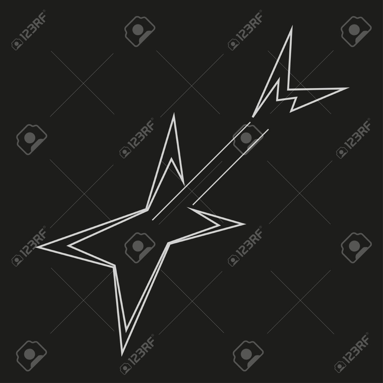 Electric Guitar Logo Template Vector Illustration Royalty Free