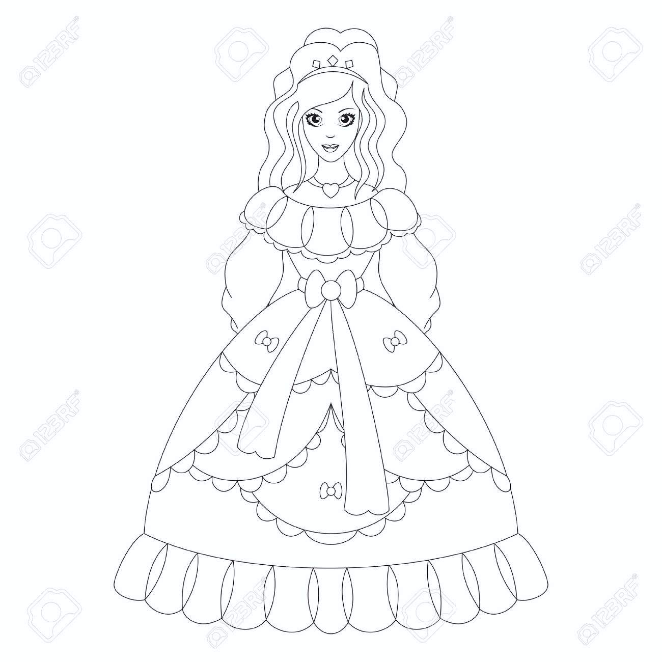610+ Princess Coloring Book Free
