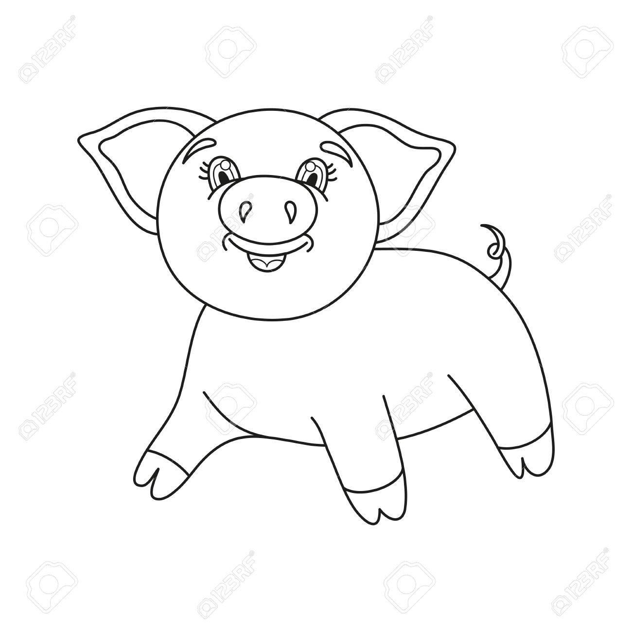 Contemporáneo Cara De Cerdo Para Colorear Motivo - Enmarcado Para ...