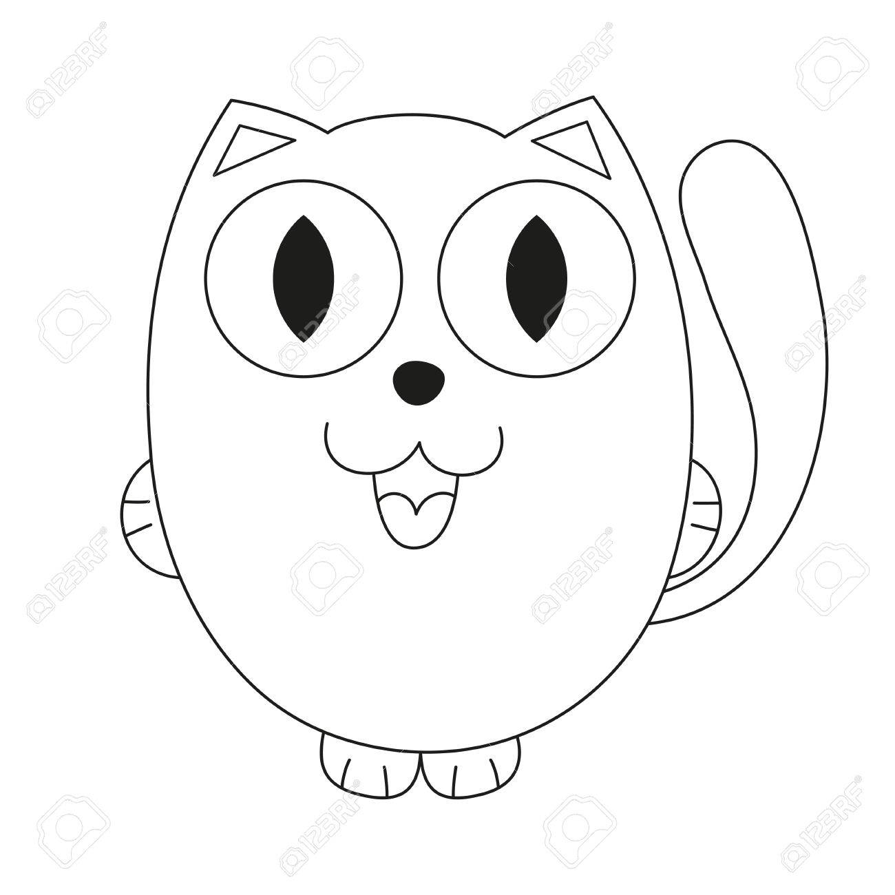 Incredible Kitten Coloring Book Image Ideas Free Cat Pages Rainbow ... | 1300x1300