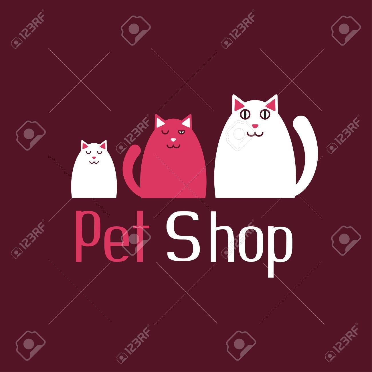 Cat sign for pet shop - 63042691