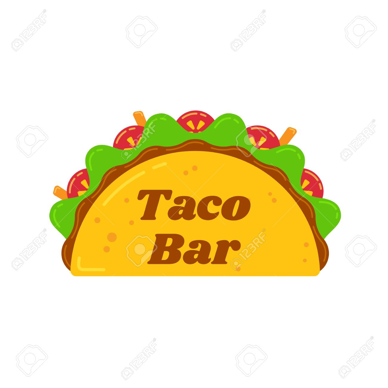 Traditional Mexican Tacos Food Bar Isolated Illustration Spicy Royalty Free Cliparts Vectors And Stock Illustration Image 109467824