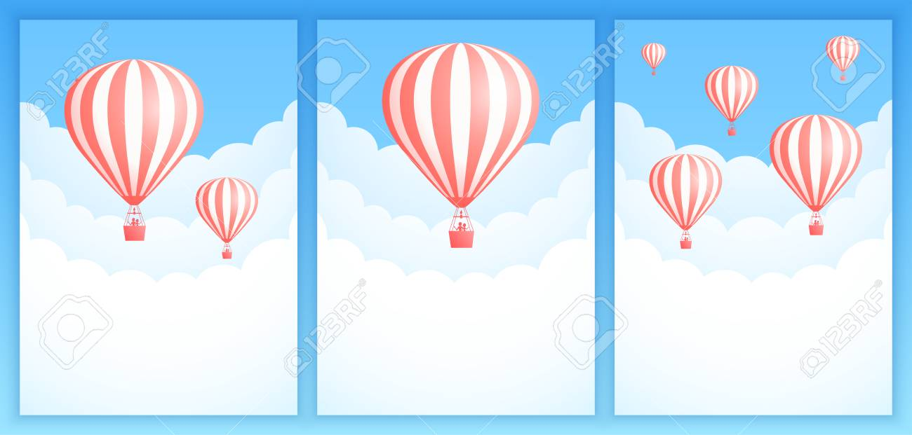 graphic relating to Hot Air Balloon Pattern Printable titled Very hot air balloon cloud drive vector case in point. Fastened of sky..
