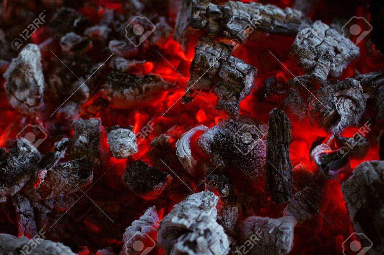 The texture of the dying coals in the fire Stock Photo - 17922980