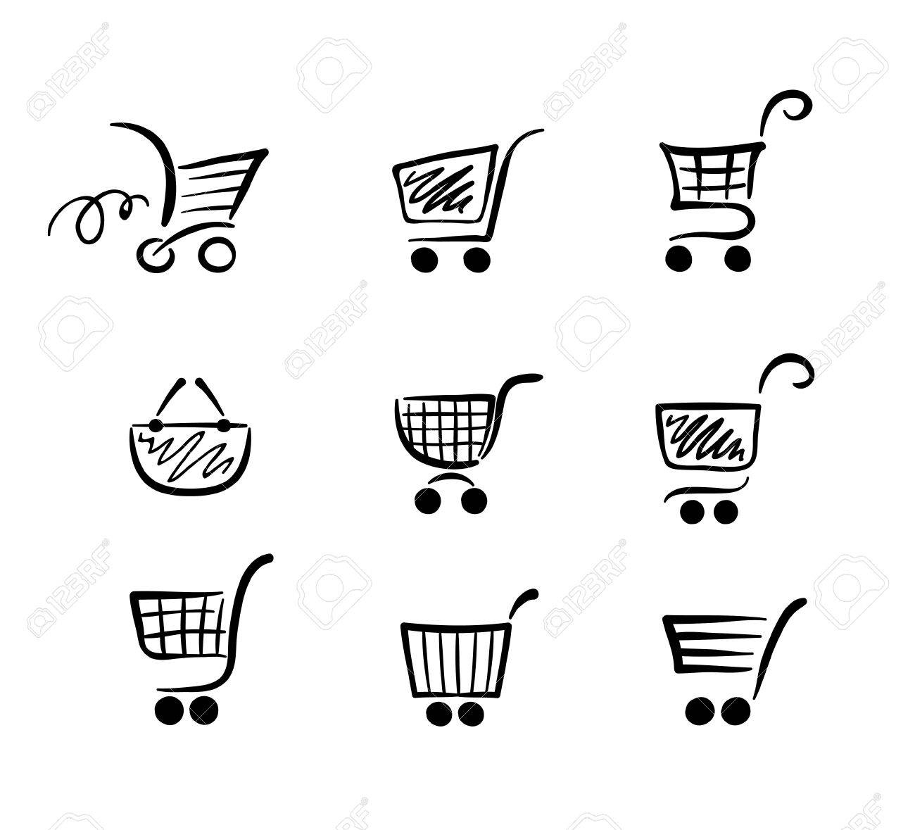 Сollection of funny carts Stock Vector - 8667451