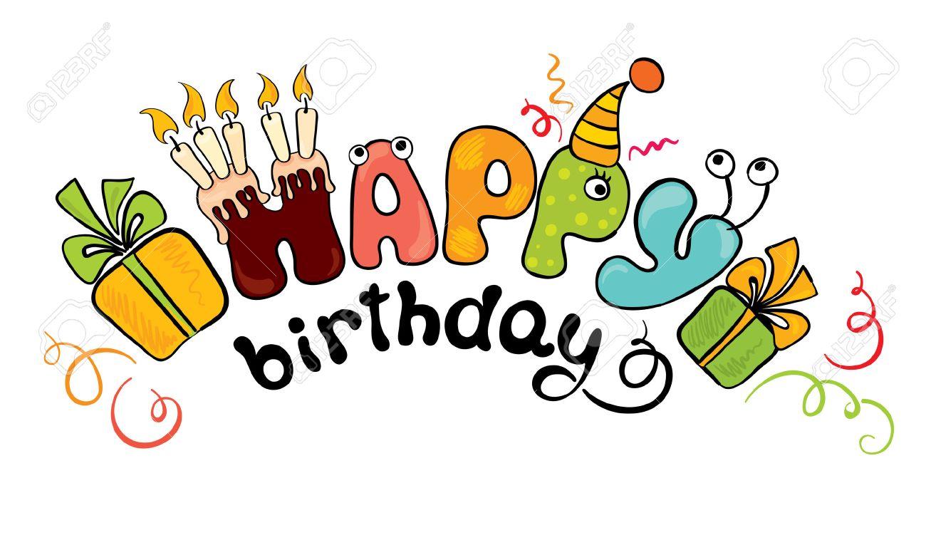 変な文字誕生日というのイラスト素材ベクタ Image 8845244