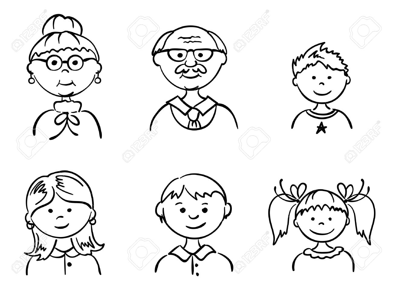 Set Family Royalty Free Cliparts Vectors And Stock Illustration Image 10358624