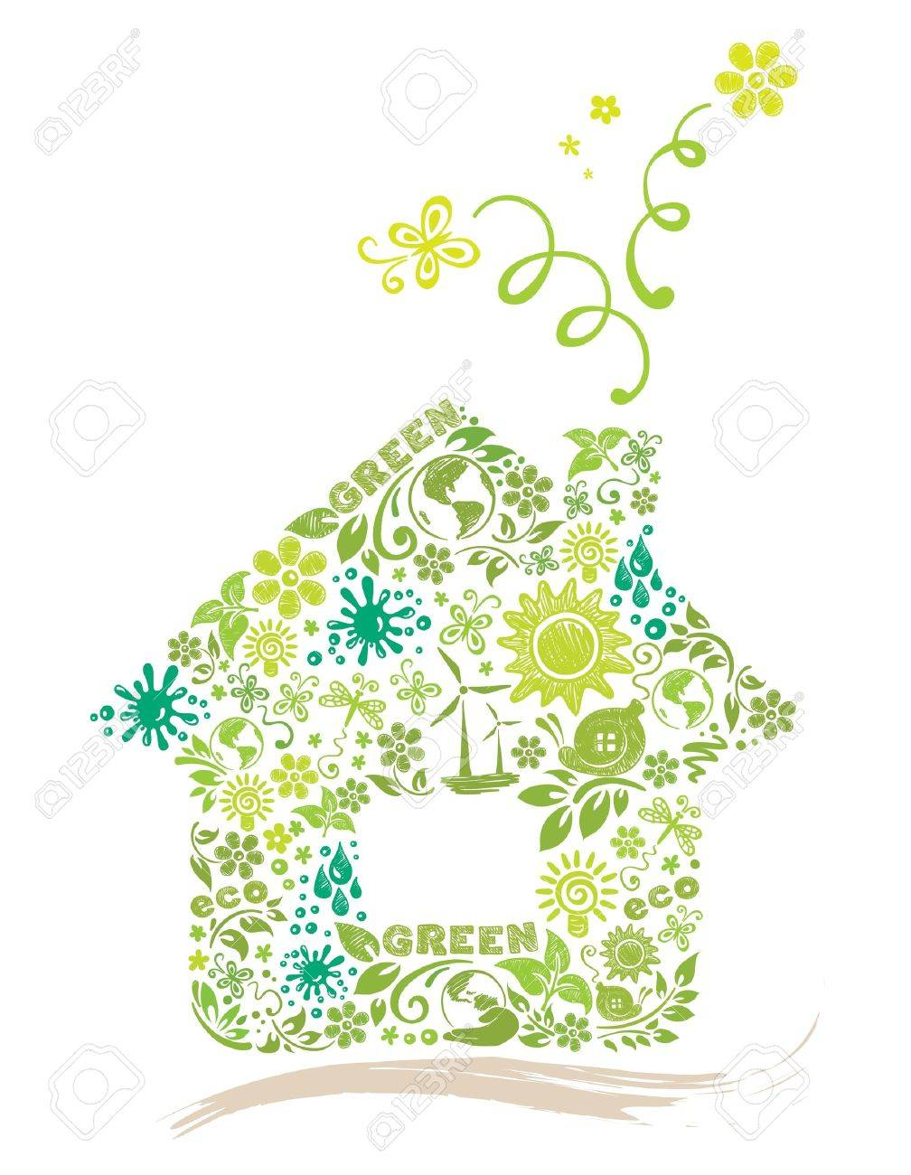 Green House Stock Vector - 10521167