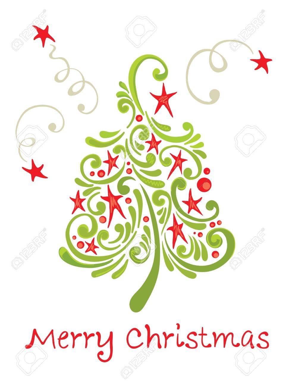 Funny christmas tree Stock Vector - 10690416