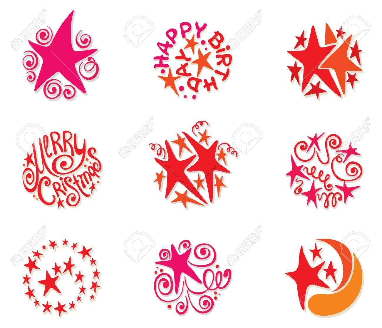 A collection of festive stars Stock Vector - 11151301