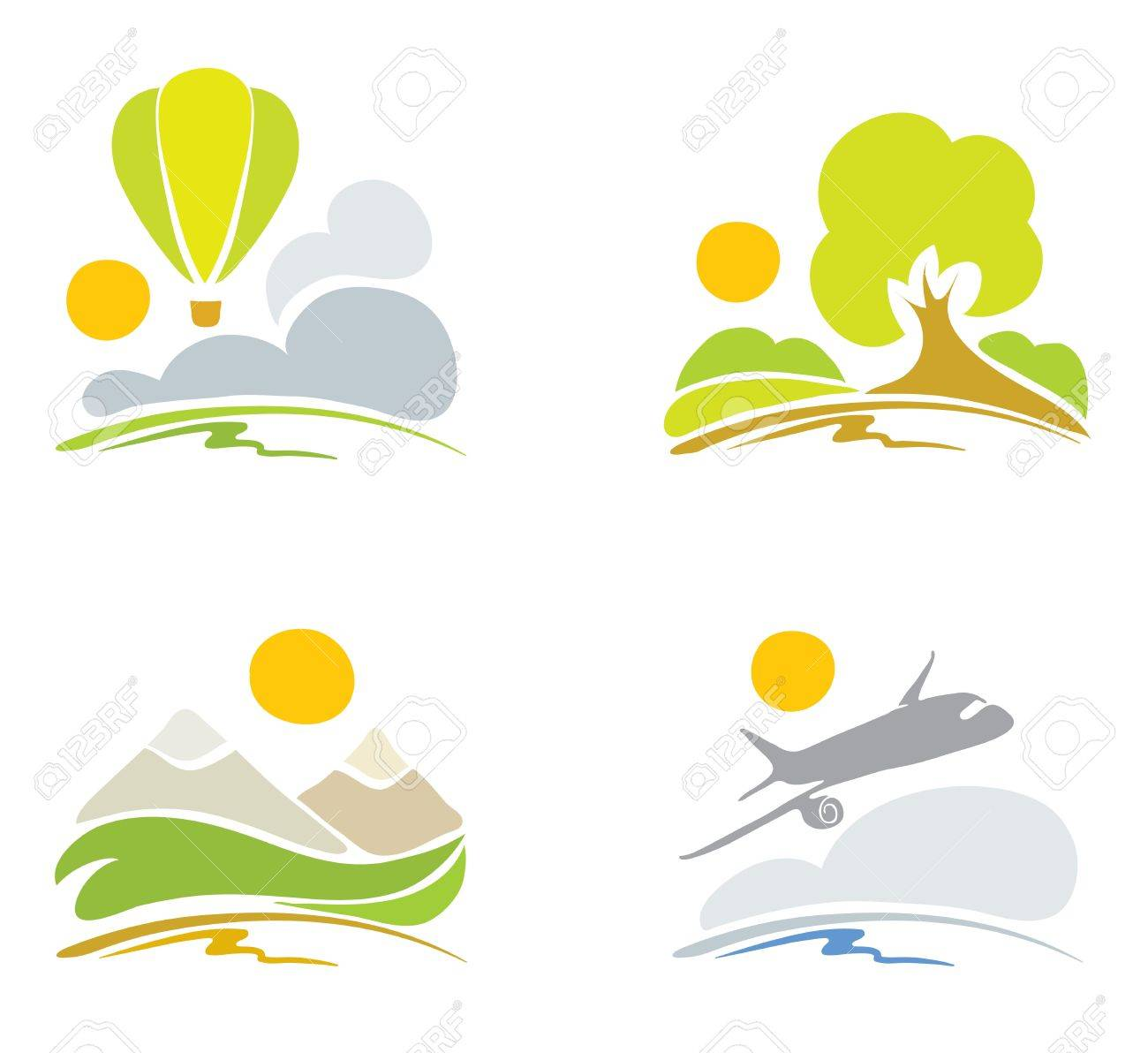 Collection signs -- nature & sky Stock Vector - 11913240
