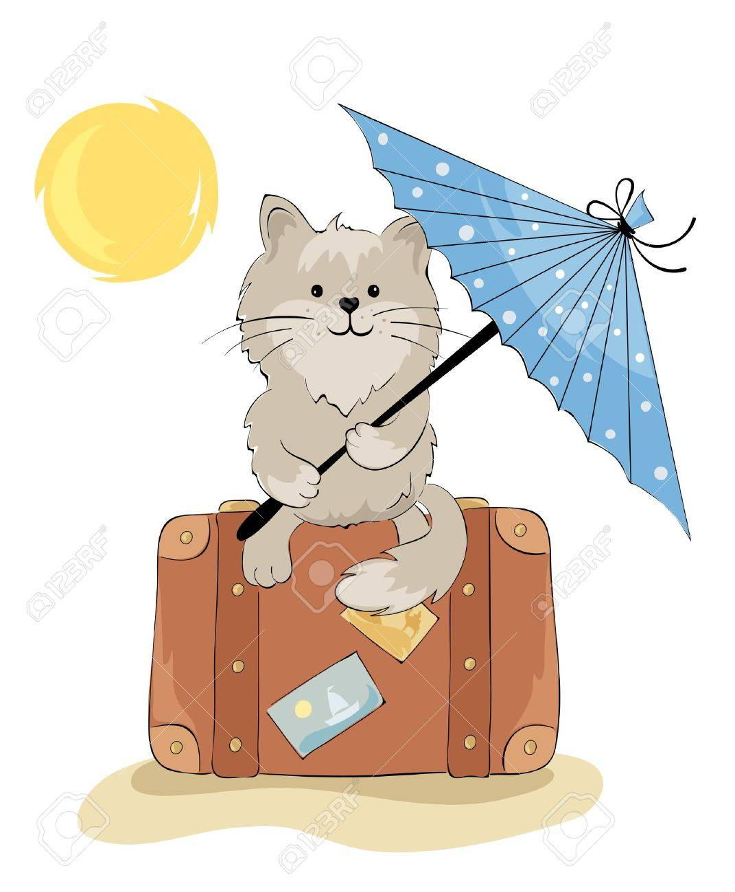 Cat in the vacation Stock Vector - 13239731
