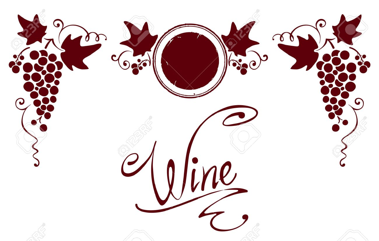 Set of elements for a wine label Stock Vector - 13331713