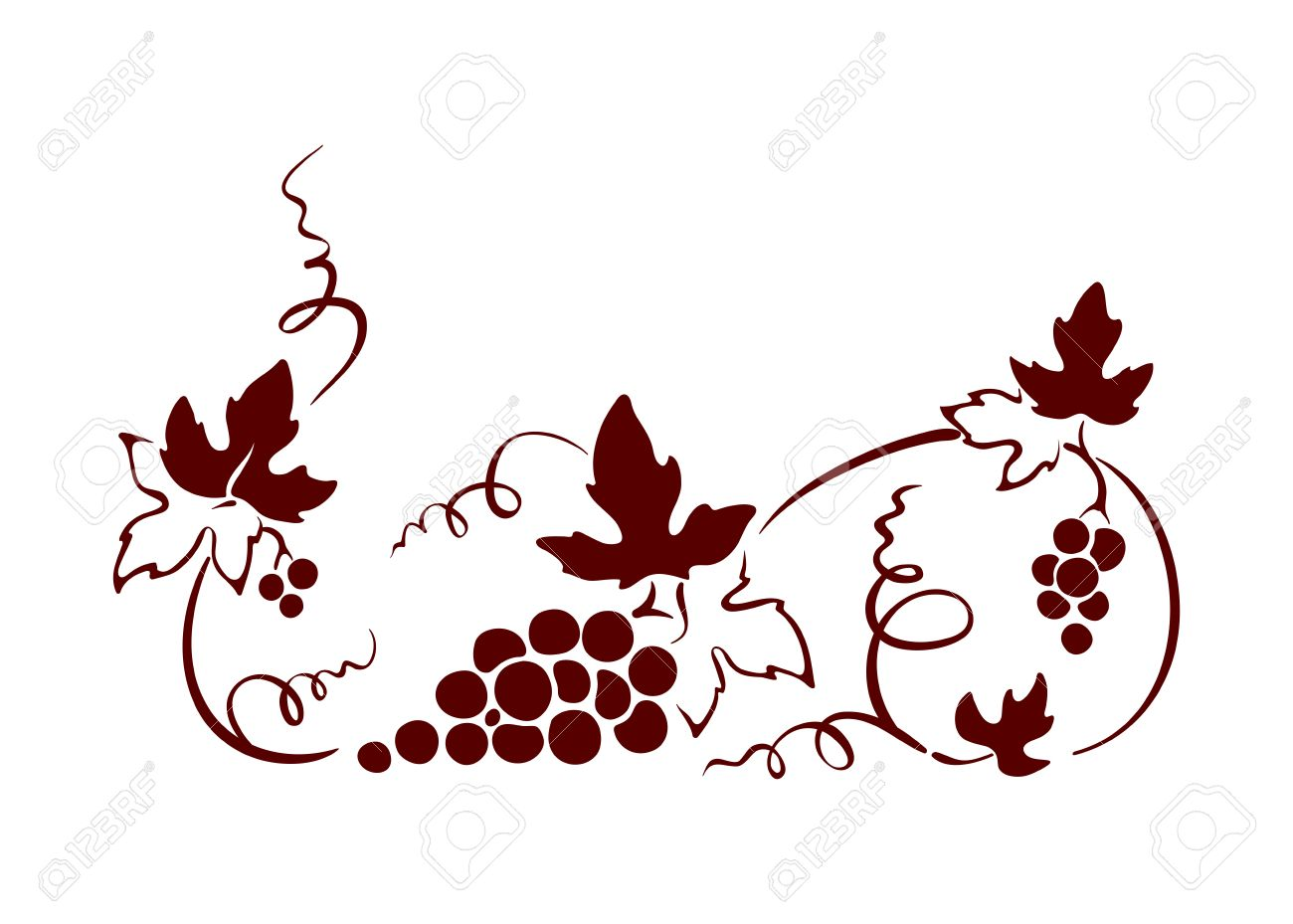 design element border vine graphic illustration royalty free rh 123rf com vine vector art vine vector frame