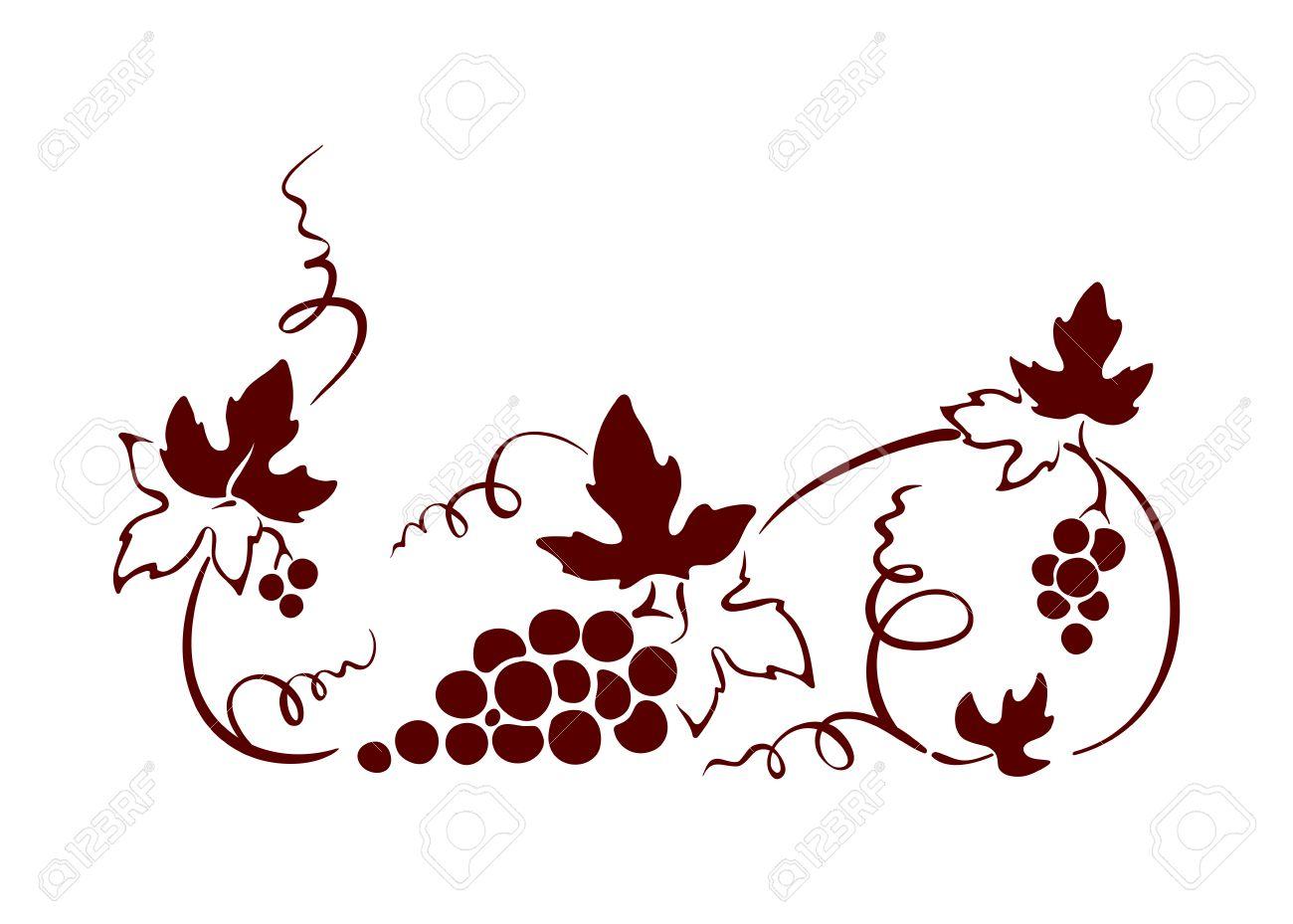 Design element, border -- vine. Graphic illustration. - 50386794
