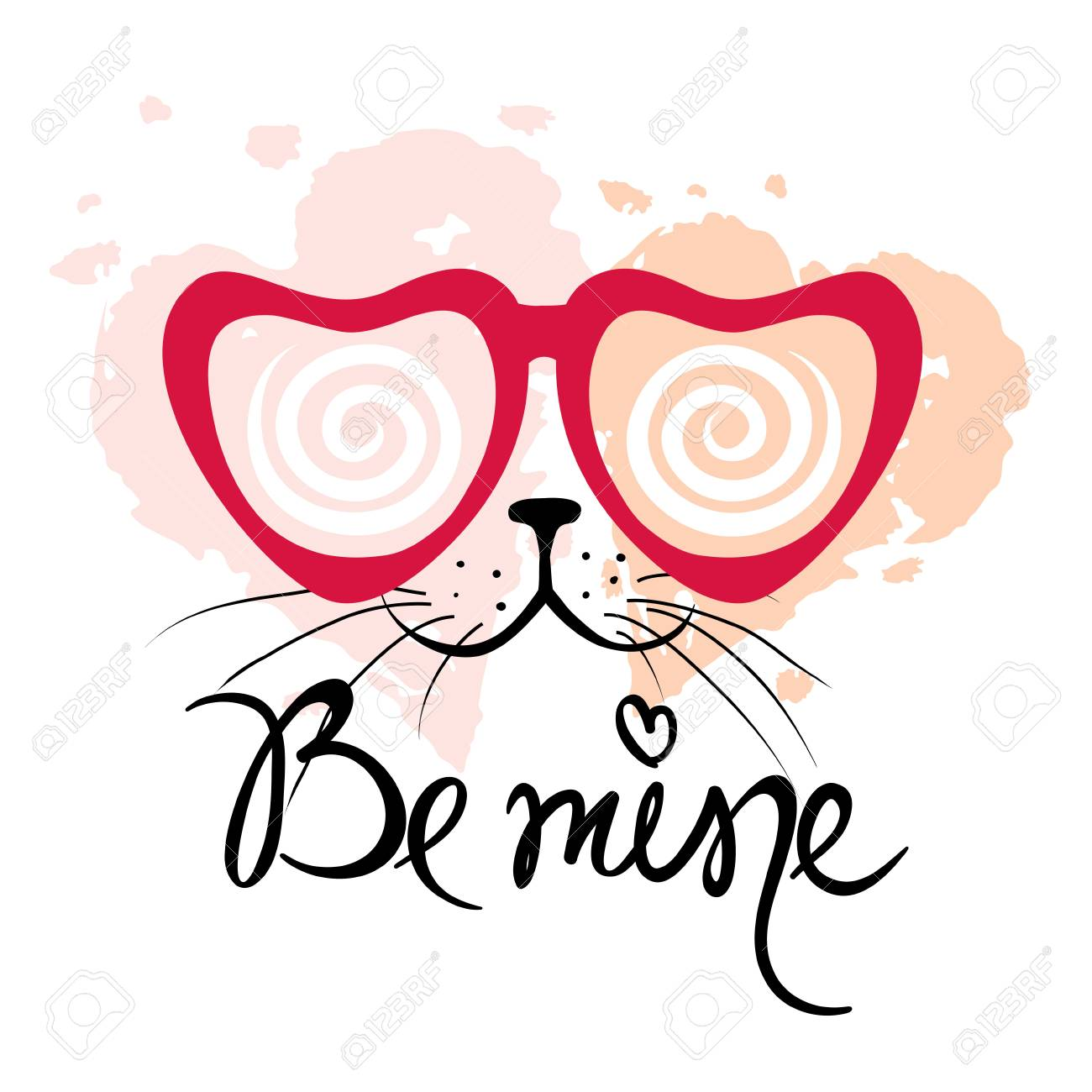 05599a904ce7 Valentine Card -- Be Mine   Vector Illustration
