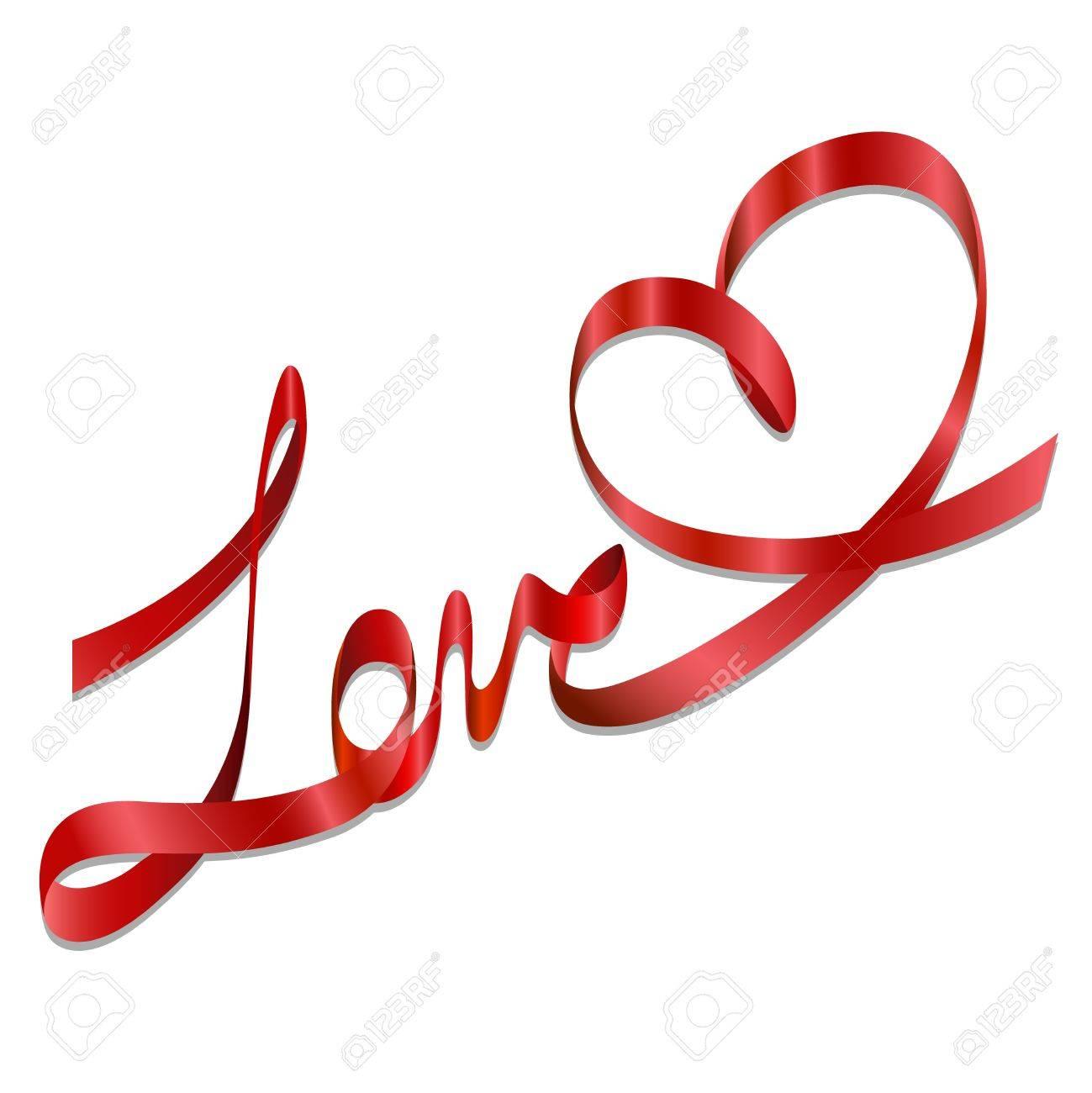 Elegant Romantic Love Gift Bows Ribbon Vector Royalty Free Cliparts