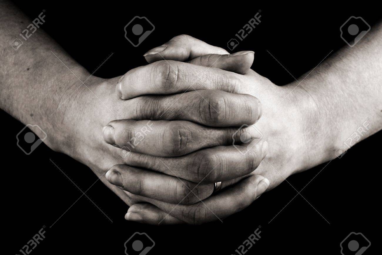 female hands clasped in prayer Stock Photo - 865690
