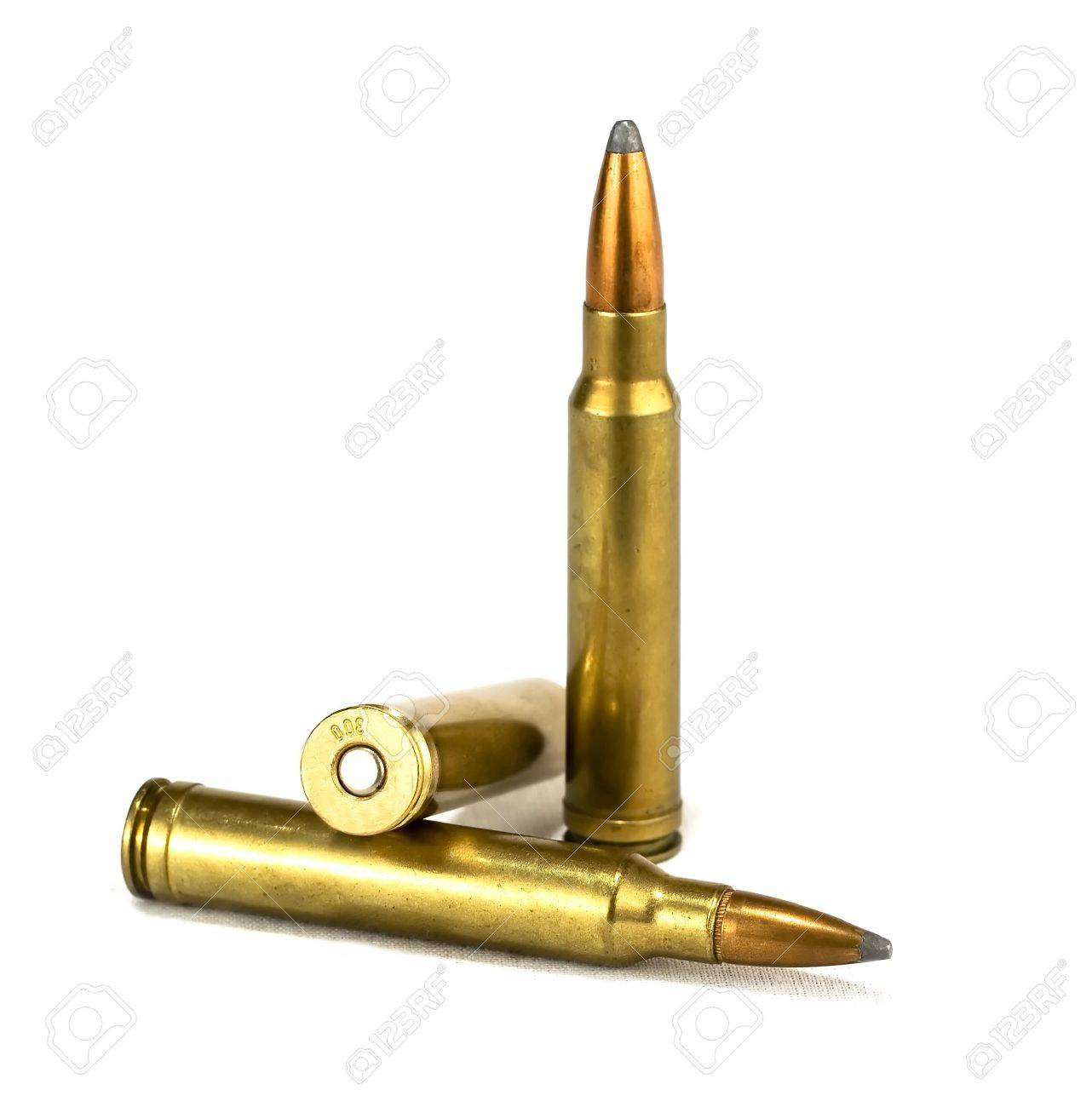 isolated rifle ammunition on white background Stock Photo - 966224