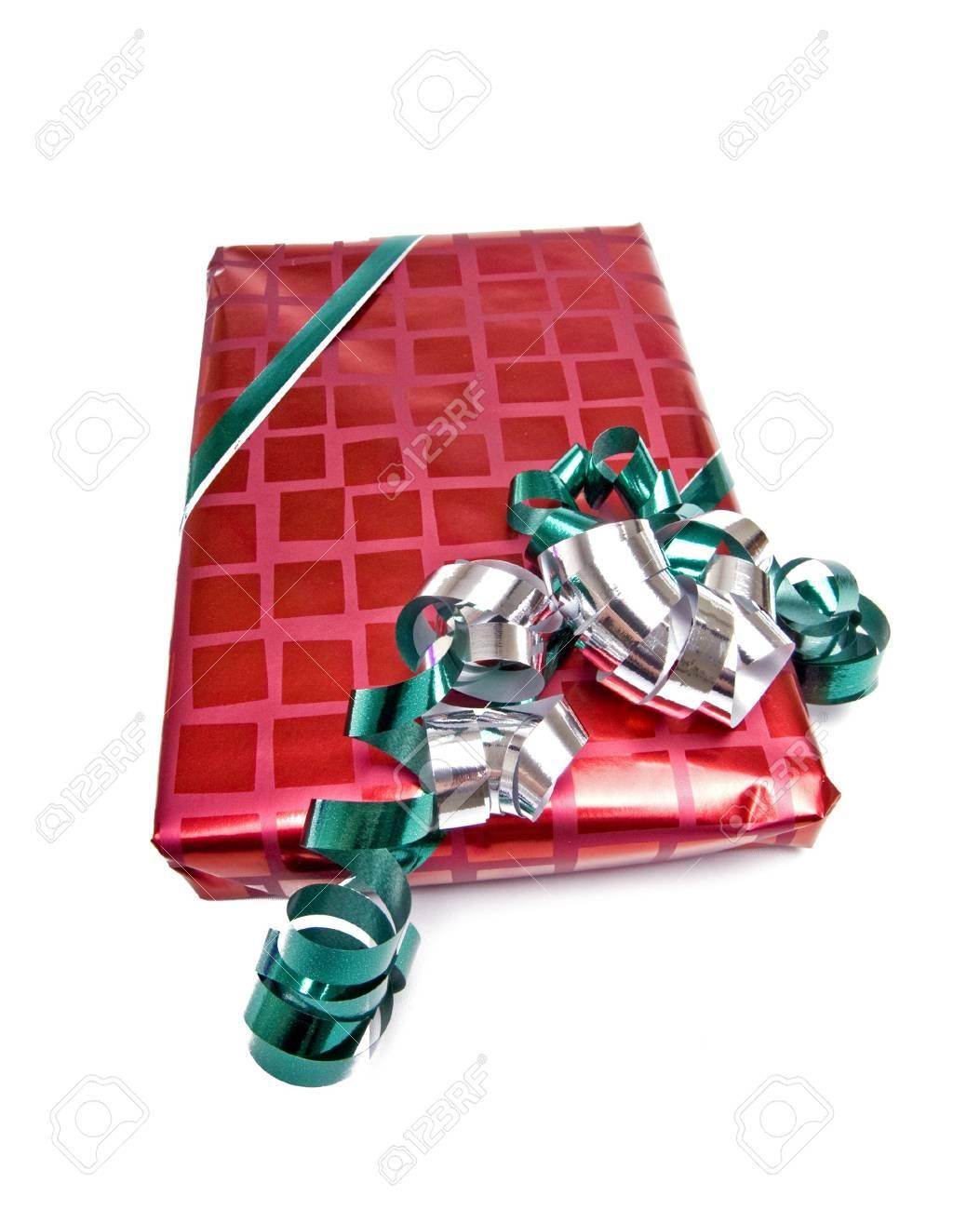 Gewickelte Geschenk Isoliert Auf Weißem Hintergrund Lizenzfreie ...