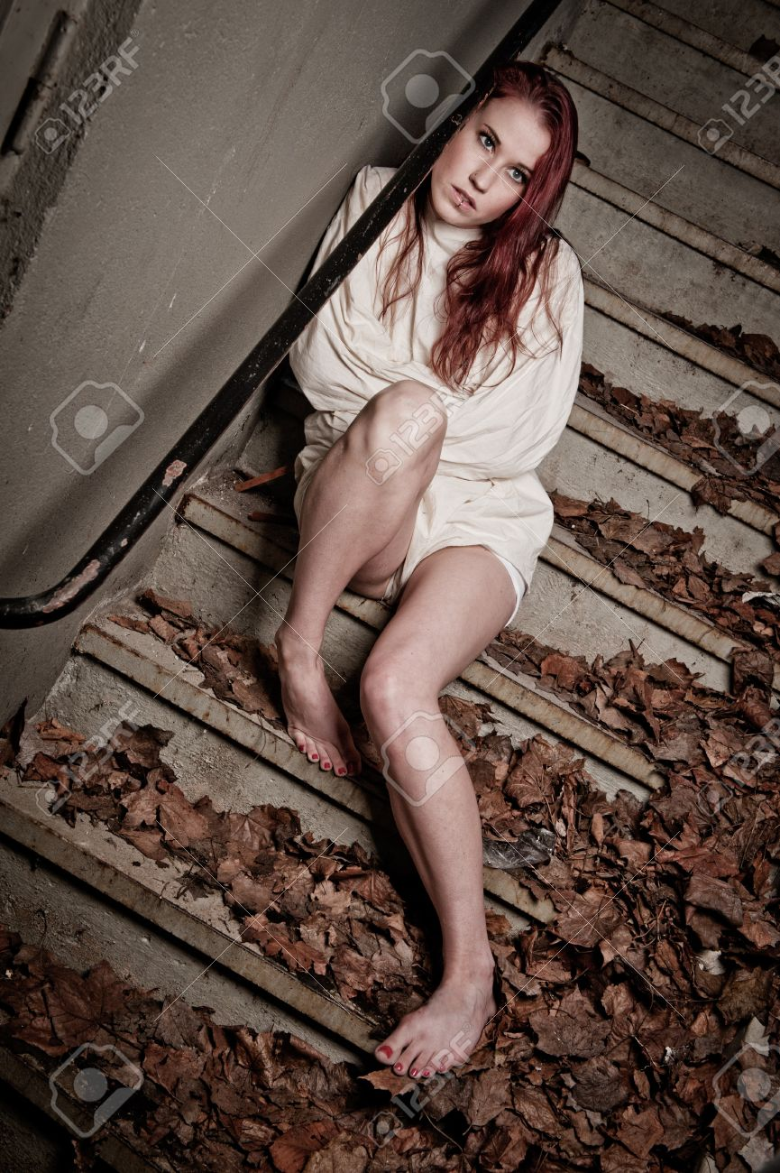 brand new fc399 c72f2 an insane psycho girl wearing a straight jacket Stock Photo - 10394498