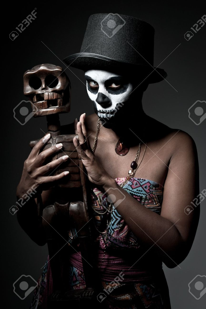 a female voodoo priestess with face paint Stock Photo - 11218670