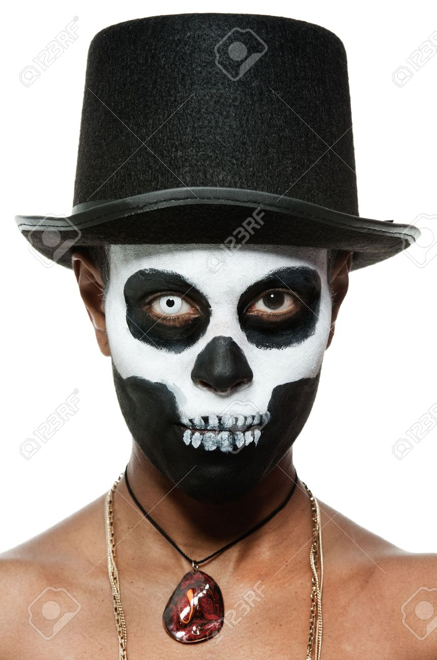 a female voodoo priestess with face paint Stock Photo - 11309420