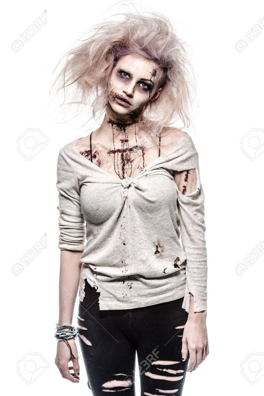 a scary undead zombie girl Stock Photo - 20528526