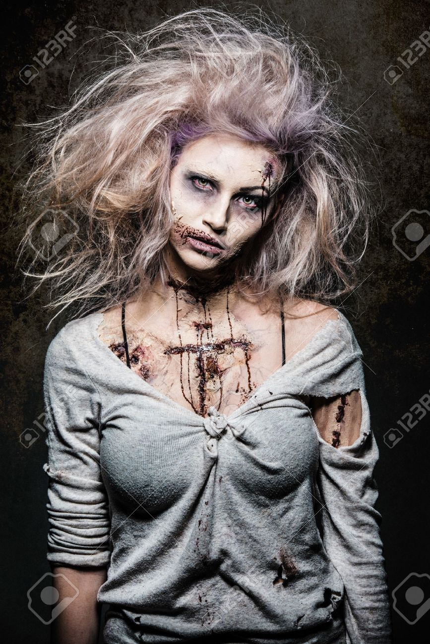 a scary undead zombie girl Stock Photo - 20528813