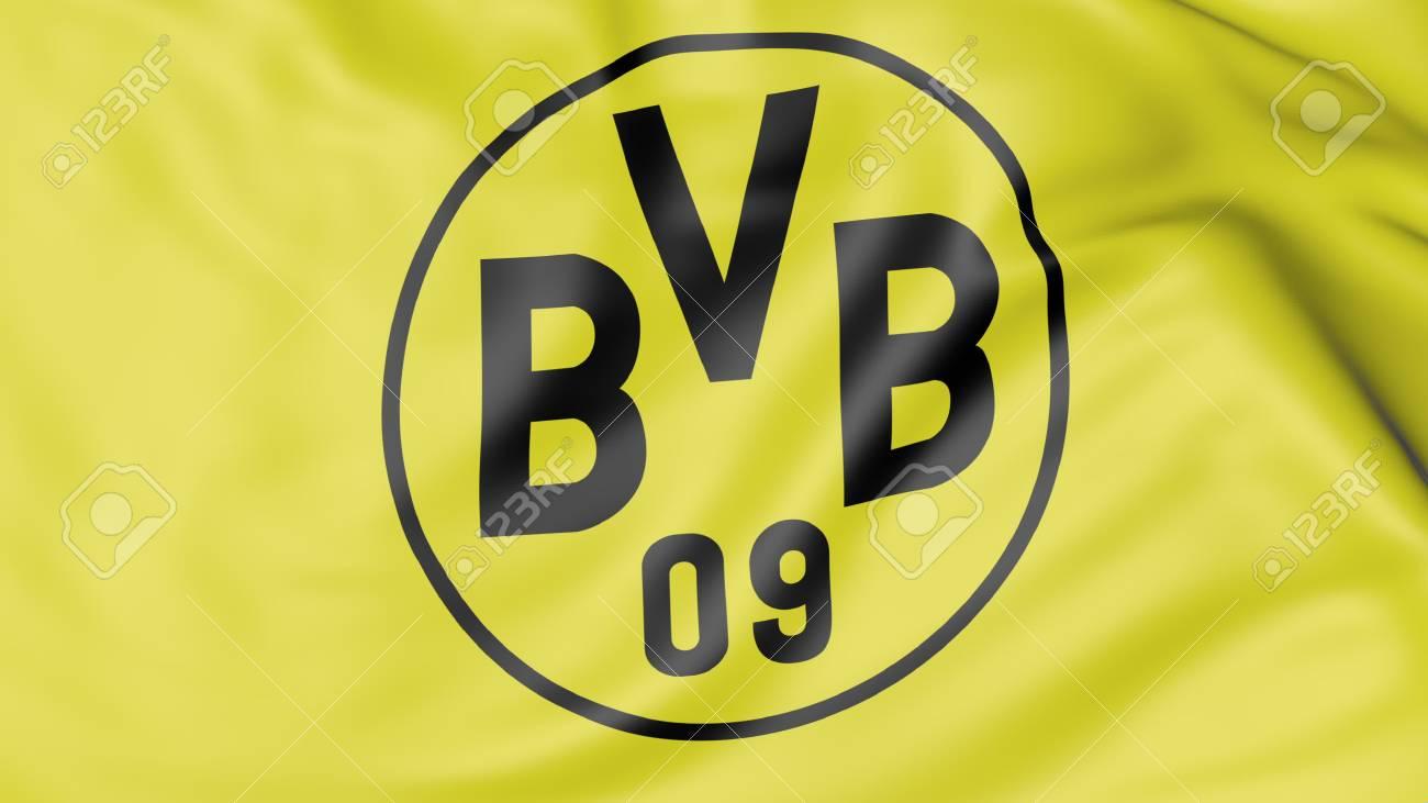 Close Up Der Flagge Mit Borussia Dortmund Fussball Club Logo Lizenzfreie Fotos Bilder Und Stock Fotografie Image 70598773