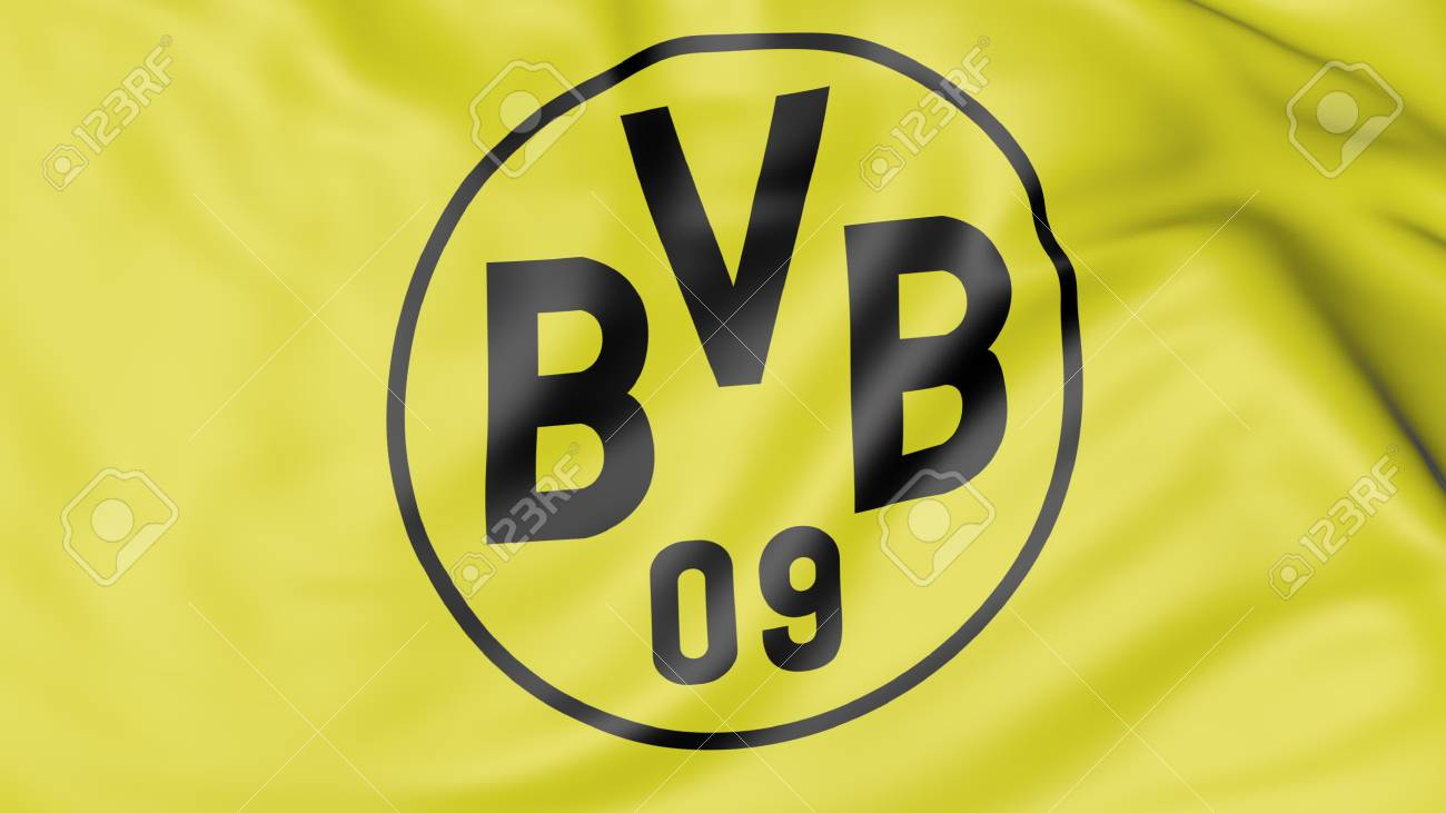 Close Up Of Waving Flag With Borussia Dortmund Football Club Stock Photo Picture And Royalty Free Image Image 70598773